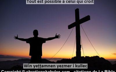 Tout est possible à celui qui croit